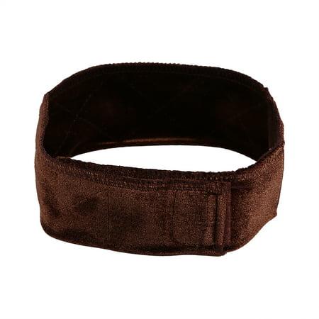 TMISHION Flexible Velvet Headband Fasten Wig Grip Scarf Hair Band, Brown - Headband Wigs Short
