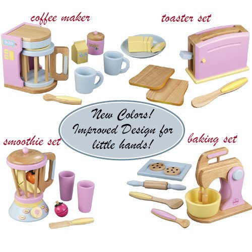 Kid Kraft Kitchen Pastel Wooden Play Food Set