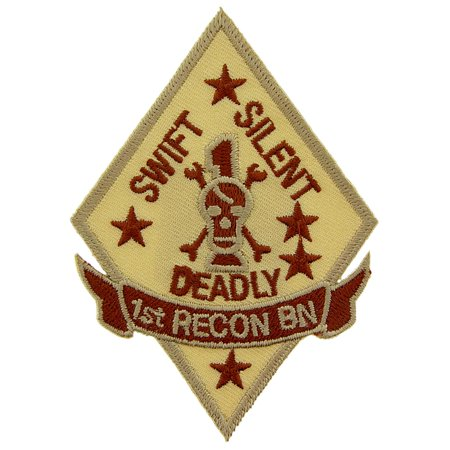 U.S.M.C. 1st Recon Battalion Patch Brown - 1st Recon Battalion