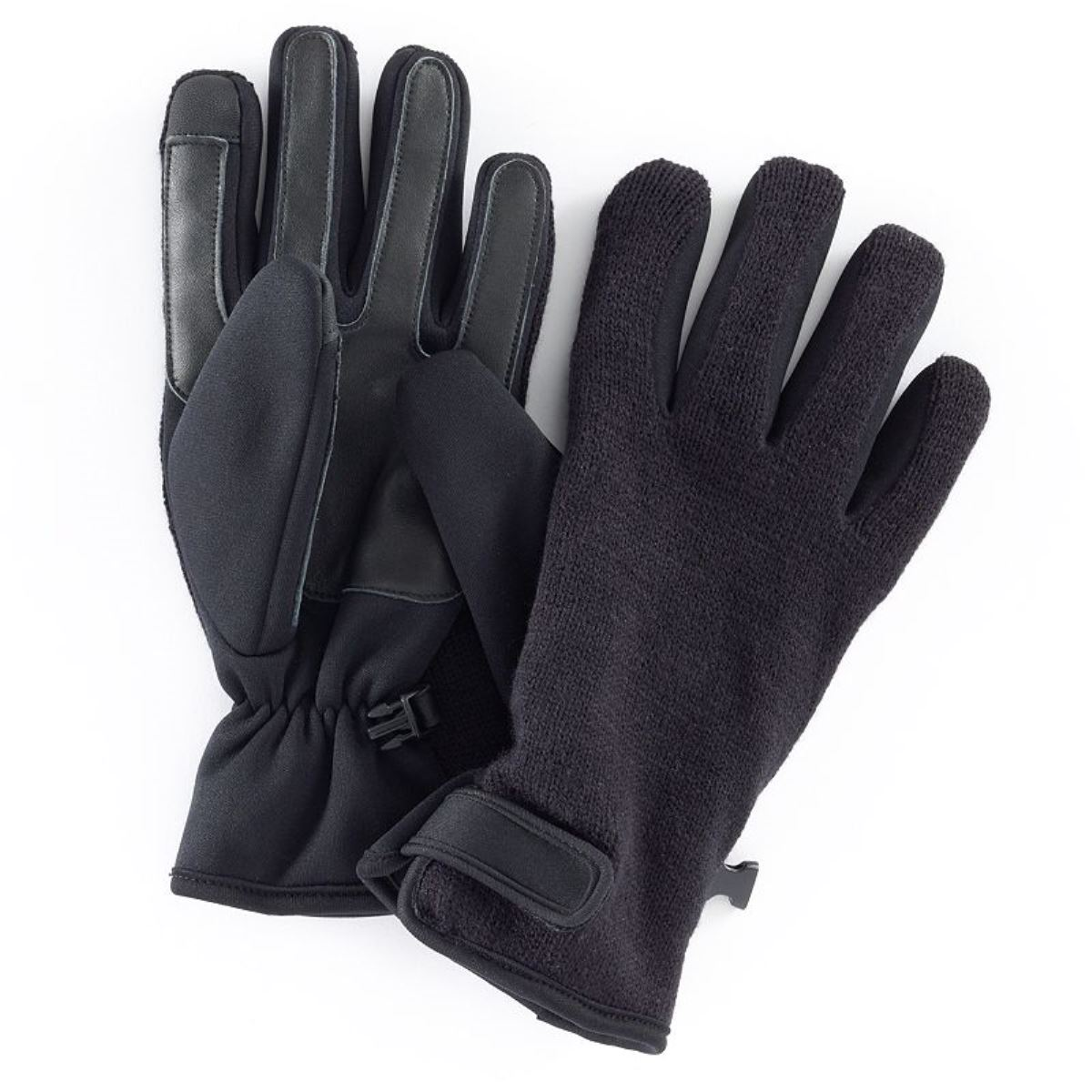 Apt. 9 Knit Fusion Texting Gloves Men Black