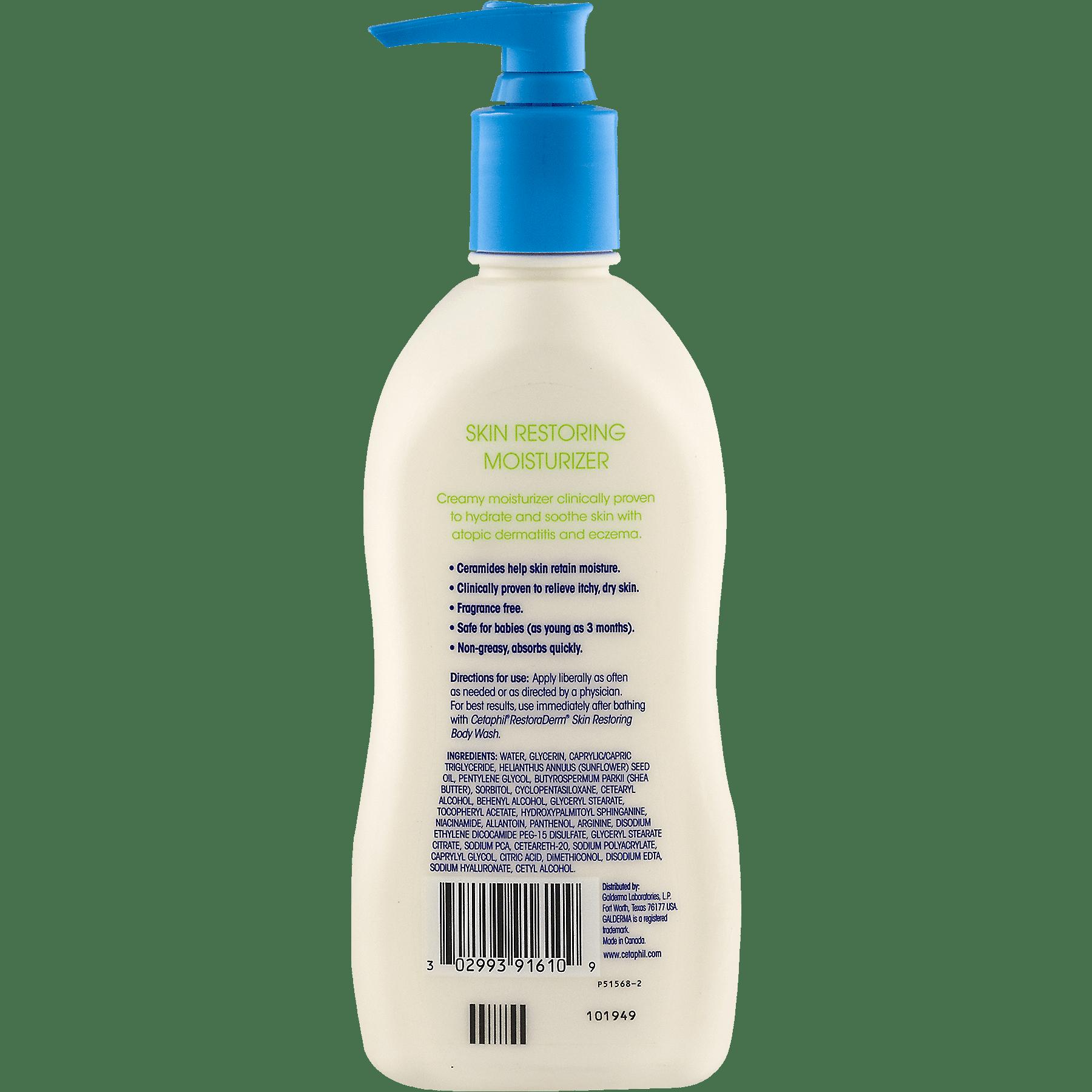 Cetaphil Restoraderm Eczema Calming Body Moisturizer 10 Fl Oz Wash 295ml Pump