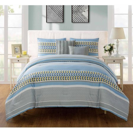 Vcny Home Marcus Geometric Bedding Comforter Set With Decorative Pillows  Multiple Colors And Sizes Available