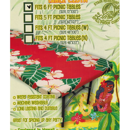 Christmas In Hawaii Party.Hawaiian Tropical Fitted Tablecloth Fits 6 Feet Picnic Tables 72 X 30 Spicing Up Any Party Christmas Holiday