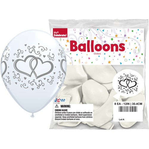 "Way to Celebrate Wedding 12"" Balloons, 8pk"