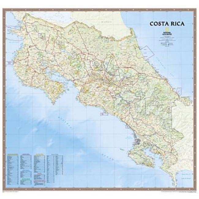 National Geographic RE01020322 Map Of Costa Rica - Tubed