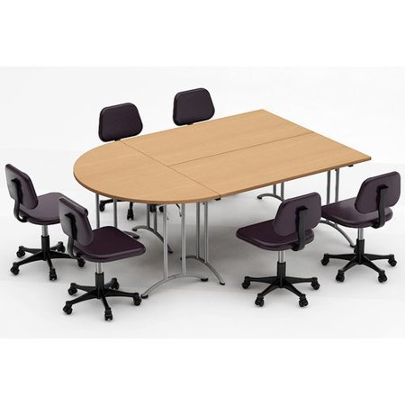 Team Tables Meeting Seminar Piece HalfRound H X W X L - 60 round conference table