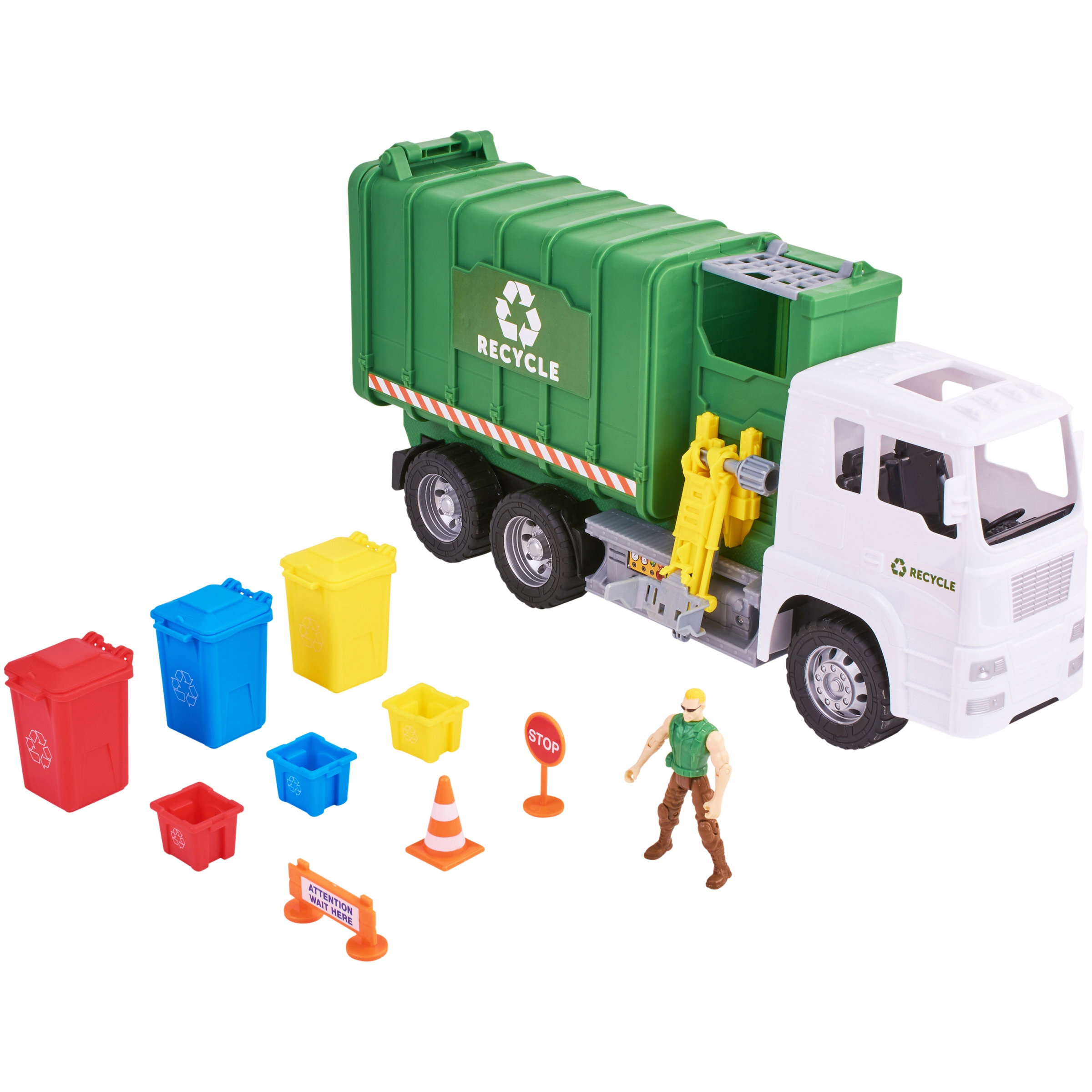 Kid Connection 11 Piece Light Amp Sound Recycling Truck Play