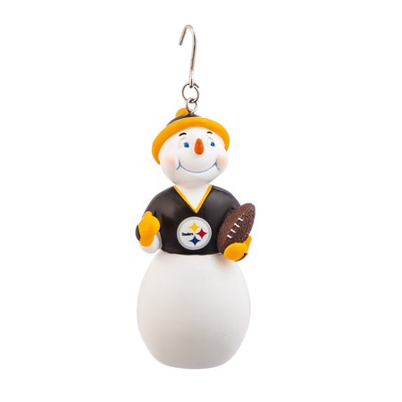 Pittsburgh Steelers Jock Frost Snowman Polystone - Steeler Ornaments