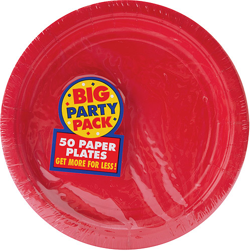 "Big Part Pack Luncheon Plates, 7"", 50/Pkg"
