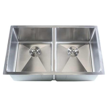 Contempo Living Inc Stainless Steel Undermount Kitchen Sink Double ...