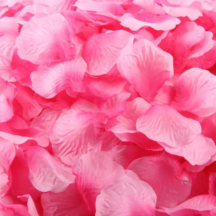 1000pcs Purple Silk Rose Artificial Petals Wedding Party Flower Favors Decor
