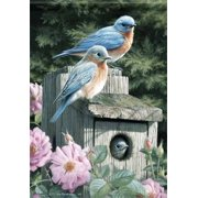 "Bluebirds Spring Garden Flag Seasonal Yard Banner New Creative 12.5"" x 18"""