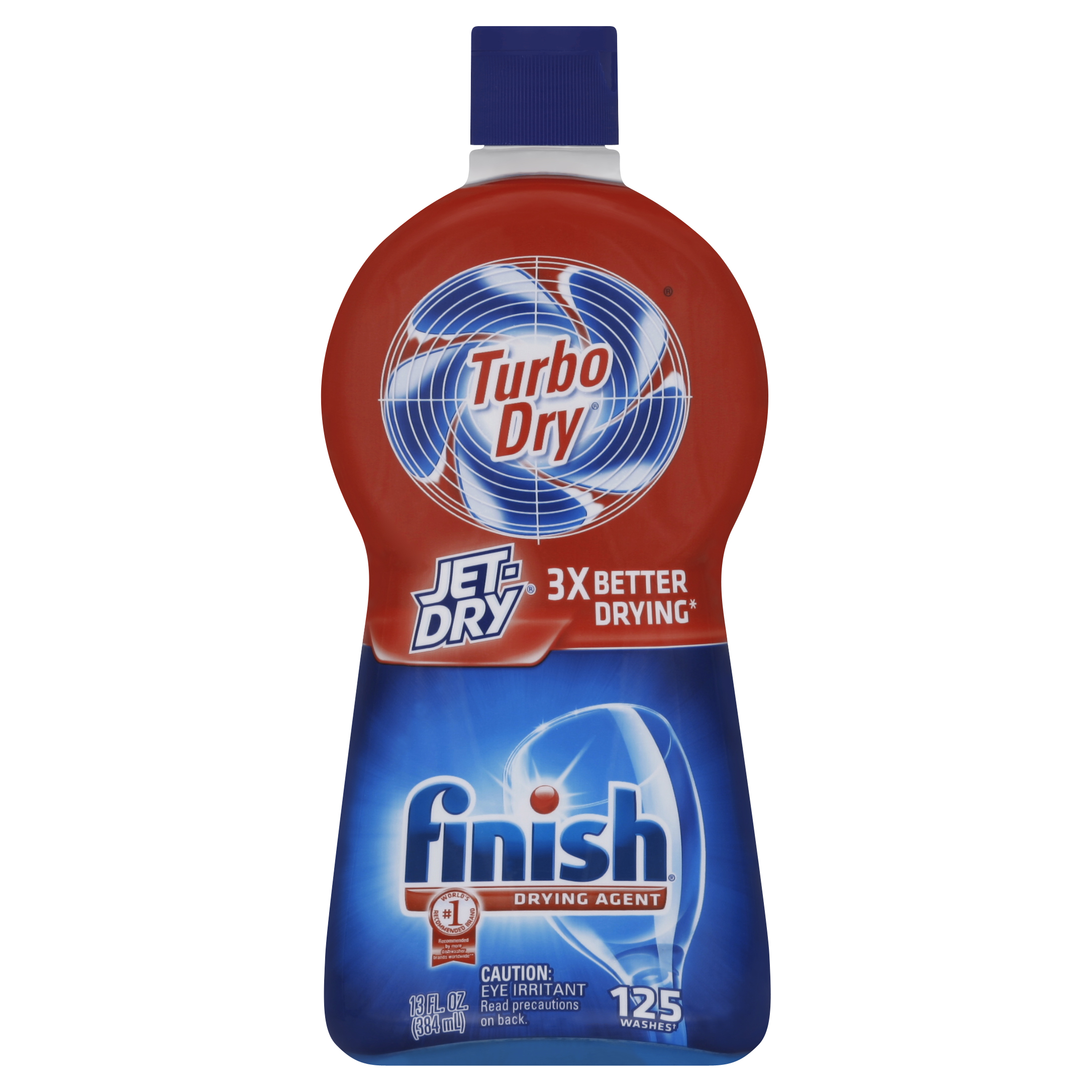 Finish Jet Dry Turbo Dry Dishwasher Rinse Aid, 13 Ounce (Pack 2)