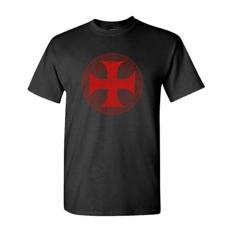 KNIGHTS TEMPLAR - christian jesus christ god - Cotton Unisex (Black Templar Space Marines)