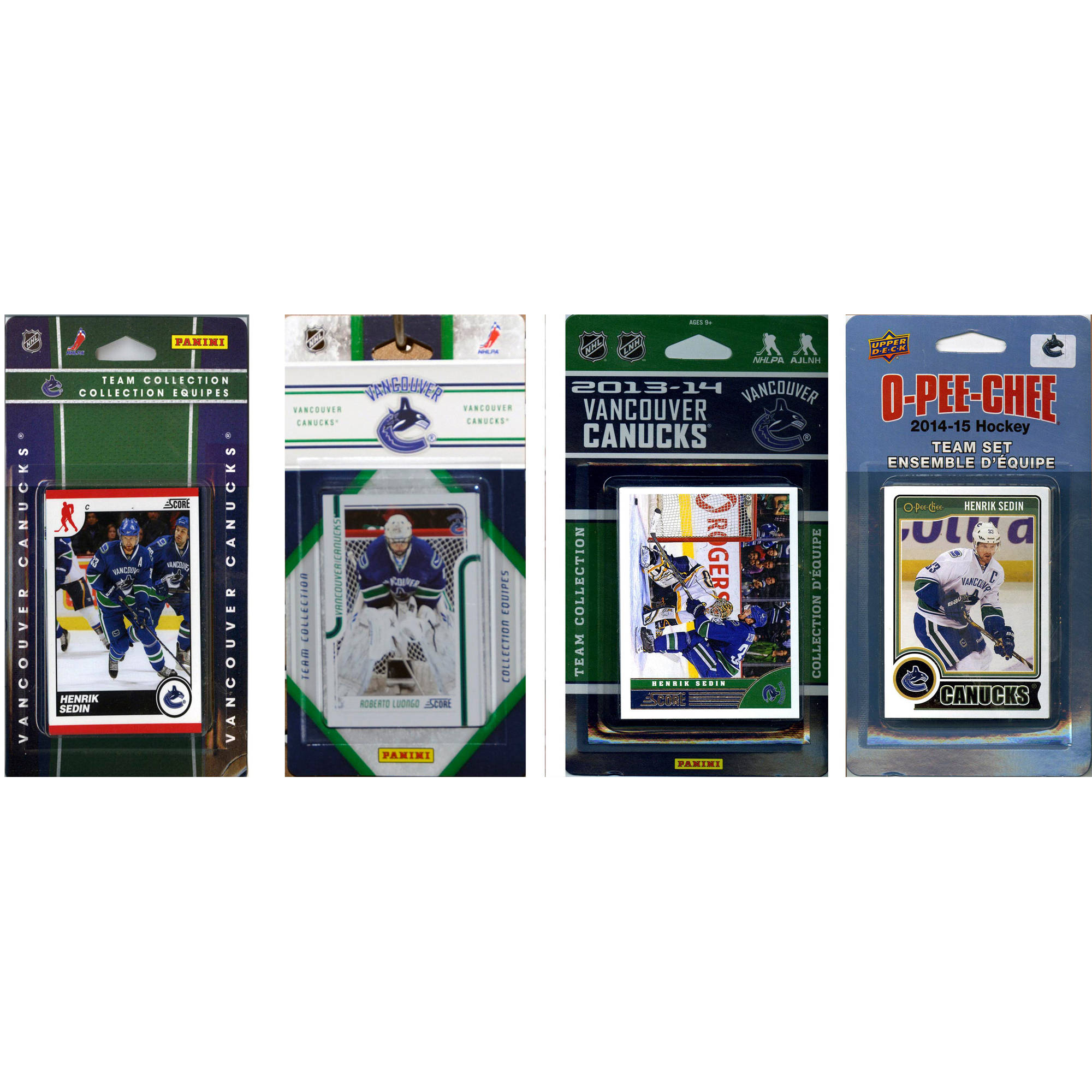 C&I Collectables NHL Vancouver Canucks 4 Different Licensed Trading Card Team Sets