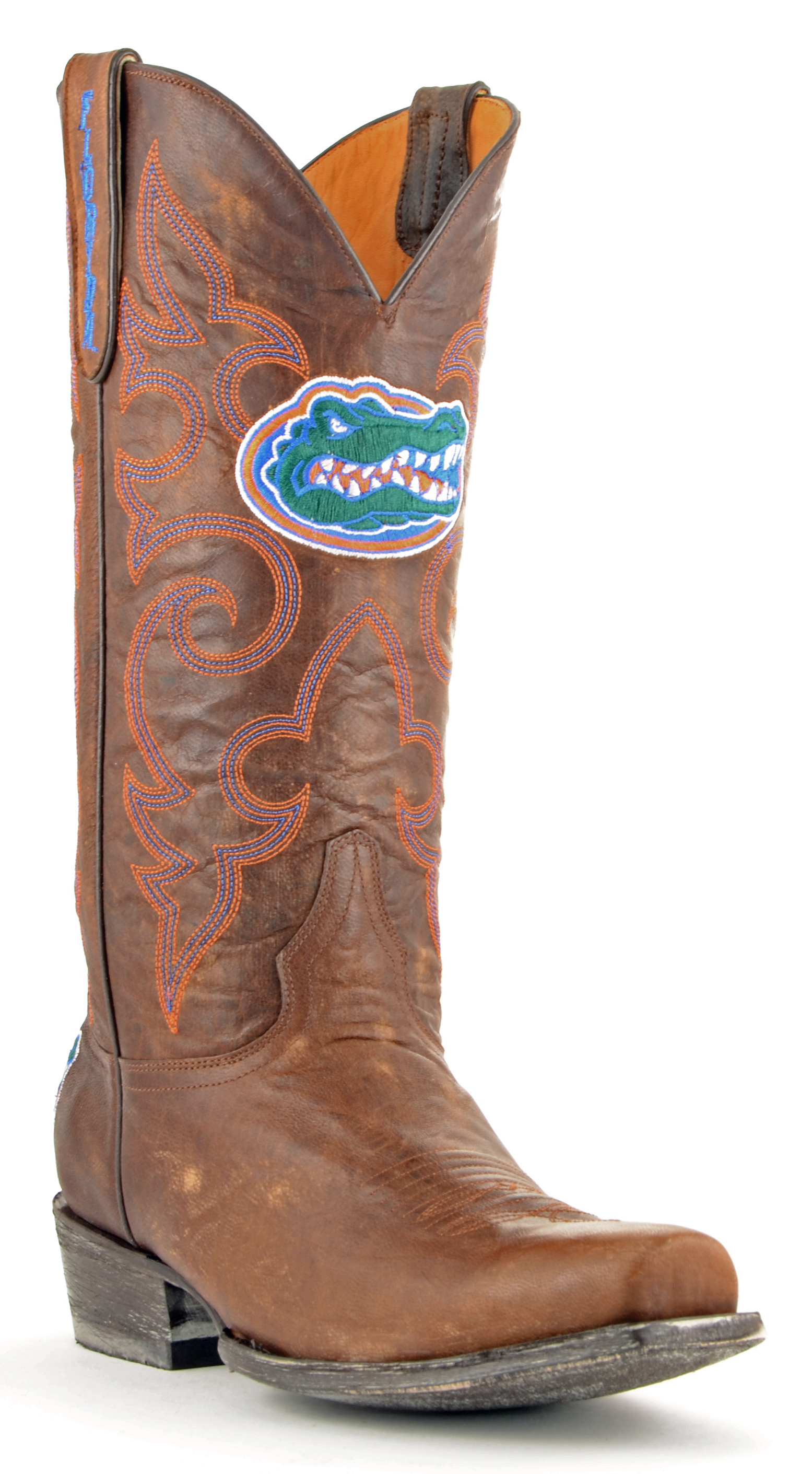 ncaa florida gators men's board room style boots, brass, 9 d (m) us by GameDay Boots