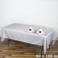 "BalsaCircle 60"" x 102"" Rectangle Polyester Tablecloth for Party Wedding Reception Catering Dining Home Table Linens"