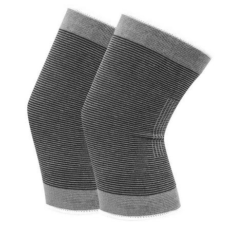 TOPINCN Le coton a tricoté les genouillères sportives chaudes élastiques de basket-ball de football de volley-ball en cours d'exécution de soutien de genoux, enveloppe de genou, appui de genou - image 1 de 8