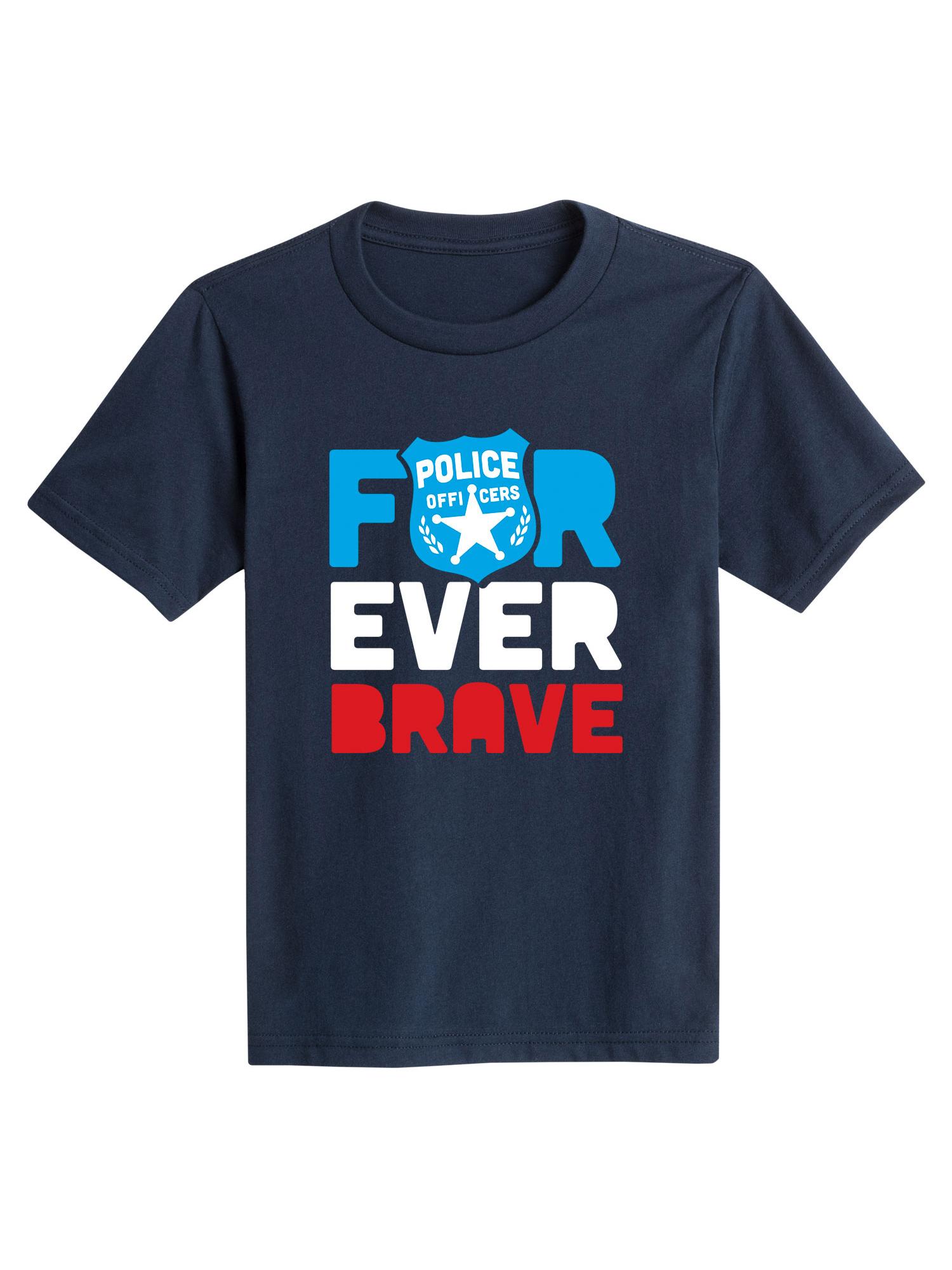 Forever Brave Police - Toddler Short Sleeve Tee
