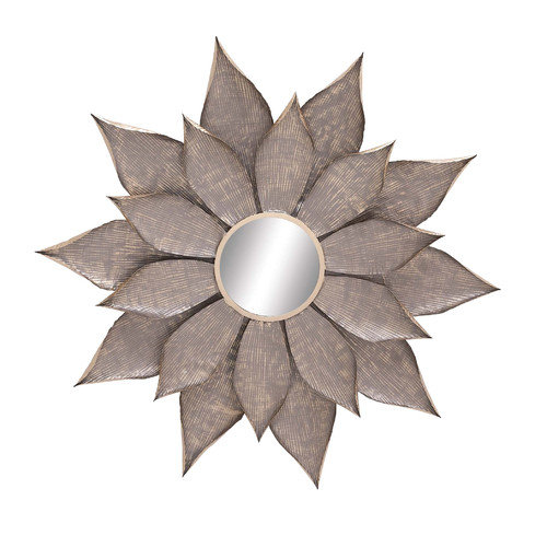 Woodland Imports Lovely Metal Wall Mirror