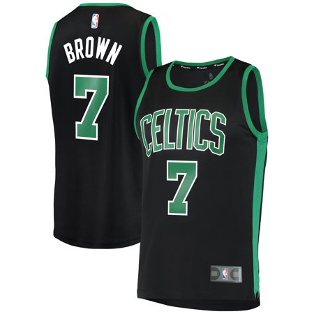 2db5c7710 Jaylen Brown Boston Celtics Fanatics Branded Fast Break Replica Jersey Black  - Statement Edition - Walmart.com