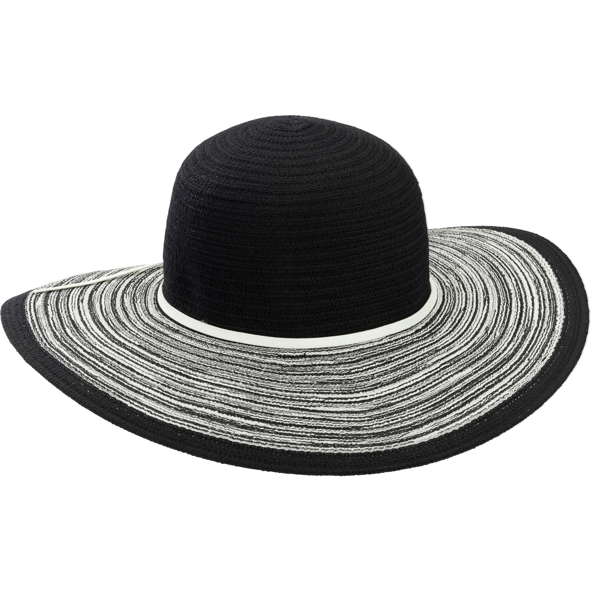 Women's Floppy Hat With Mixed Brim Details