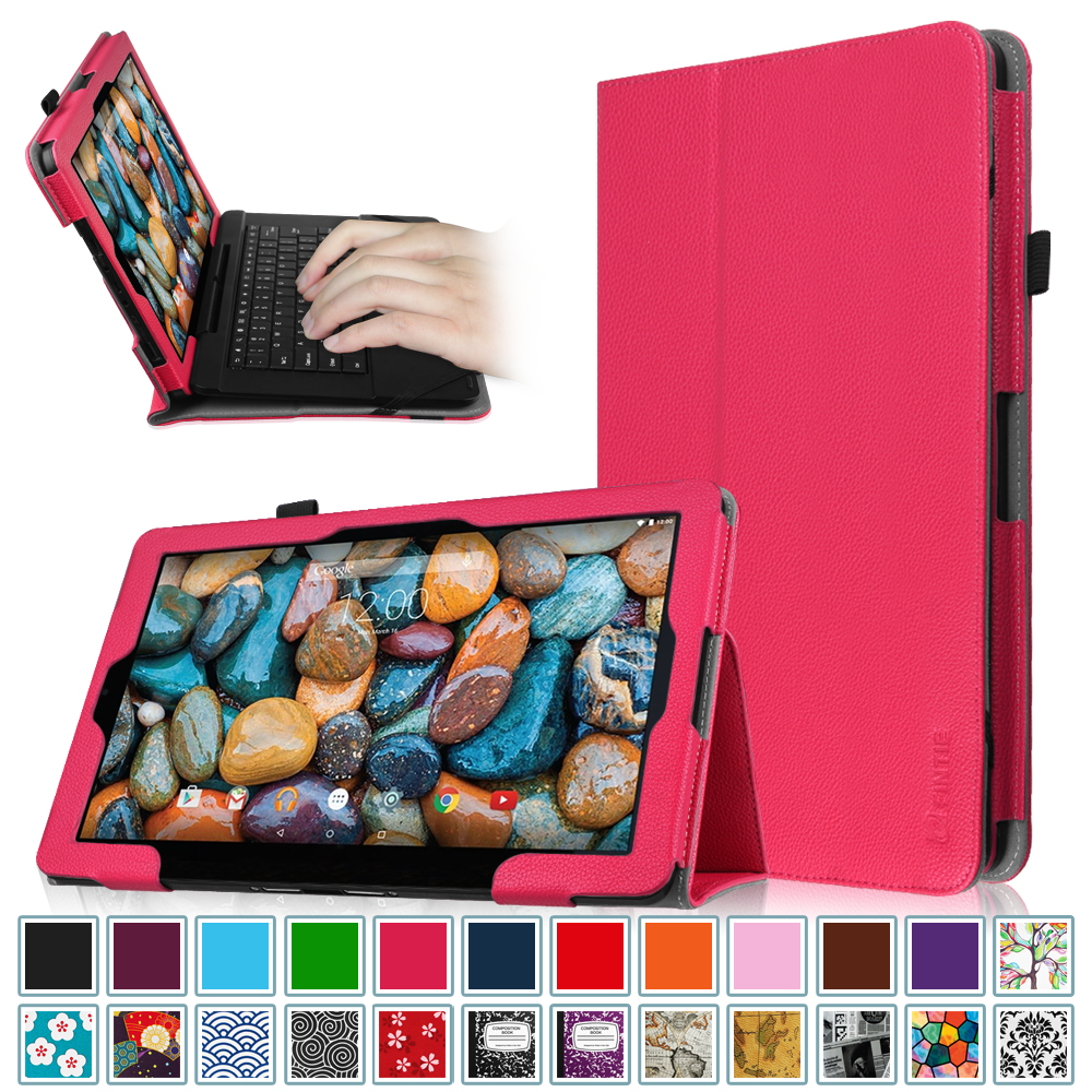 "Fintie Rca 11 Maven Pro Case - Vegan Leather Cover for RCA Maven 11.6"" (RCT6213W87DK) 2-in-1 Tablet, Magenta"