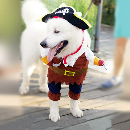 Halloween Pirate Cool Cute Dog Pet Cosplay Costume Clothing (Dog Halloween Costume Ideas Homemade)