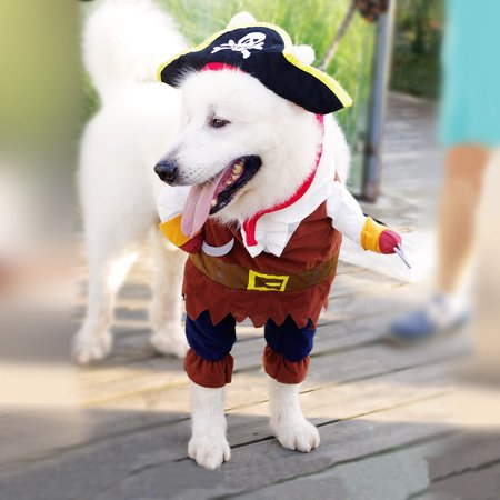 Cool Pet Costumes (Halloween Pirate Cool Cute Dog Pet Cosplay Costume)