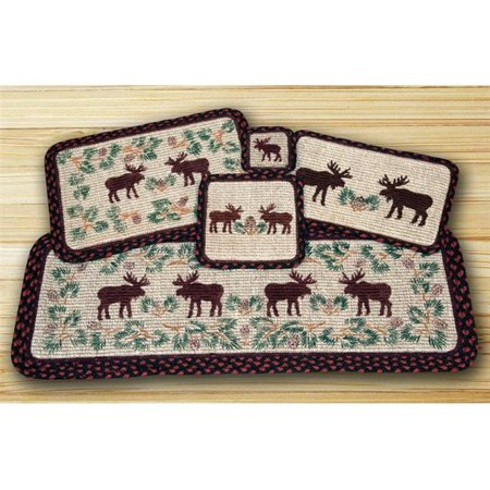 Wicker Weave Placemat, Moose and Pinecone ()