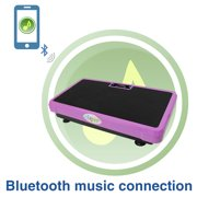 Superthin Pink Crazy Fit Full Body Vibration Platform Massage Exercise Machine MP3 Player