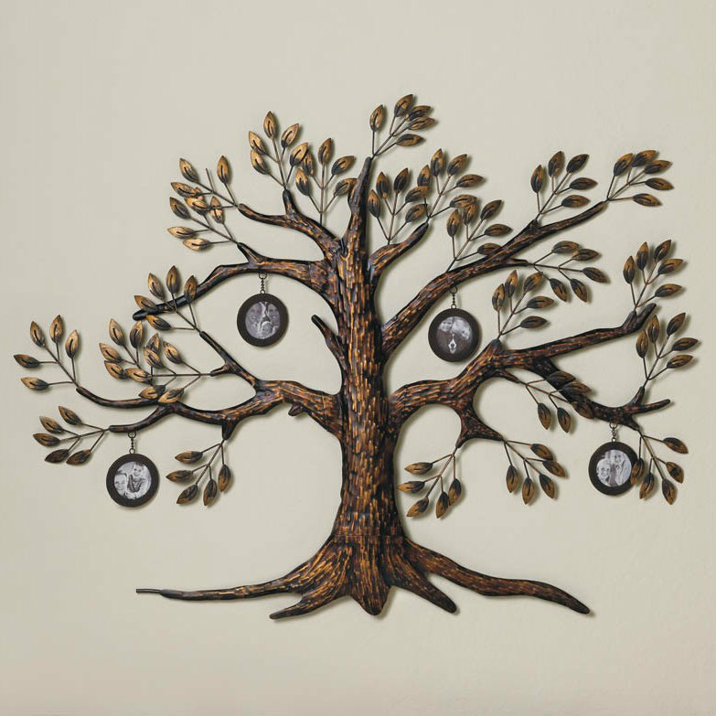 Family Tree Wall Decor With Four Frames Walmartcom