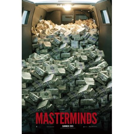 Masterminds Movie poster Metal Sign 8inx 12in
