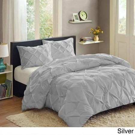 bed bath n more Luxury 3 Piece Pinch Pleat Duvet Set