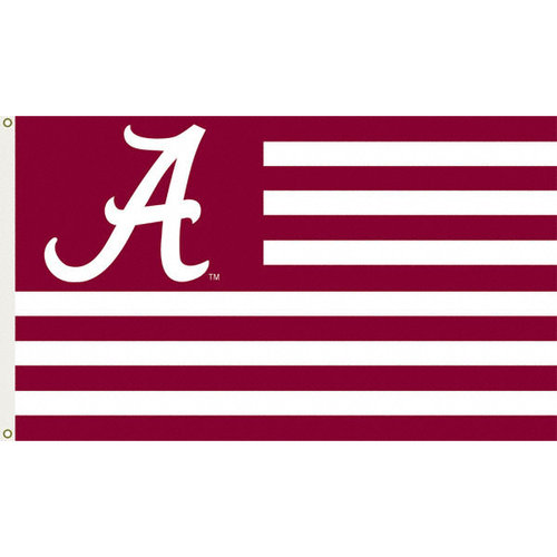 NCAA - Alabama Crimson Tide 3x5 Striped Flag