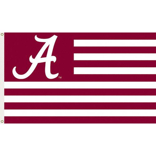 NCAA - Alabama Crimson Tide 3x5 Striped Flag