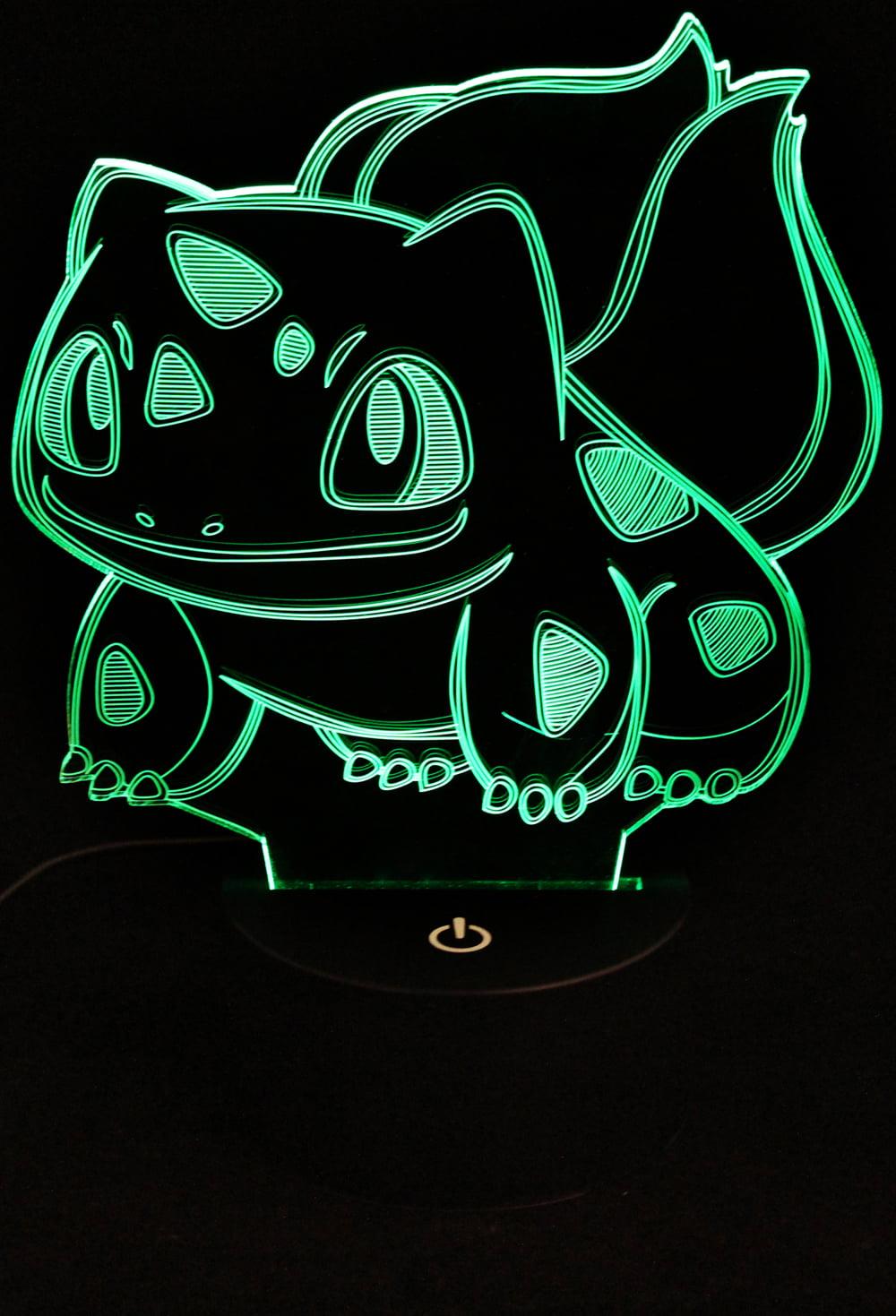 Pokemon Bulbasaur Led Acrylic Night Light With Soft Cleaning Cloth Walmart Com Walmart Com