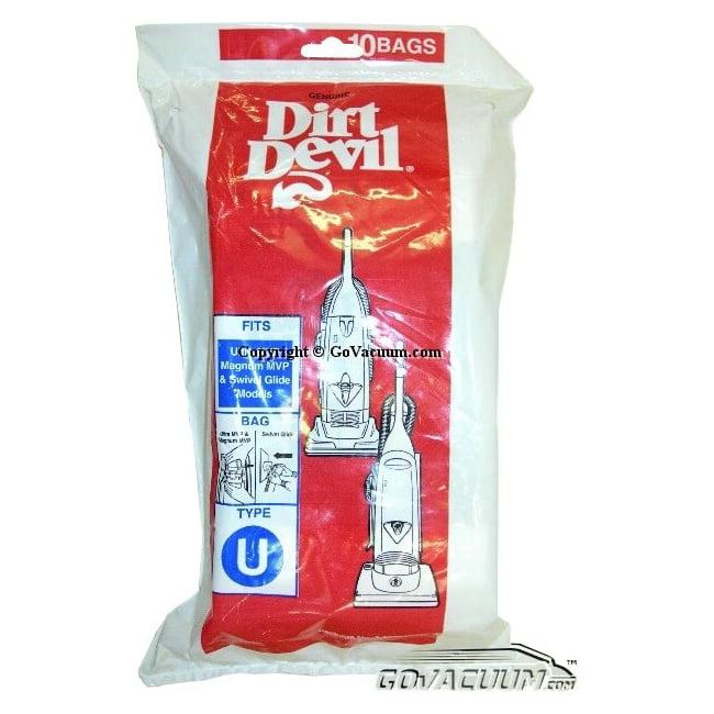 Dirt Devil Type U Vacuum Bags (10-Pack) - Part # 3920048001