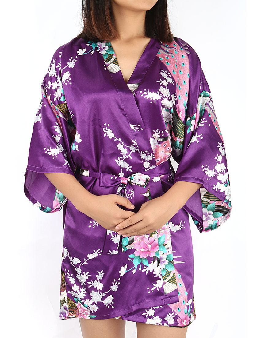 New Womens Lingerie Short Kimono Robe  One Size Fits Most S L