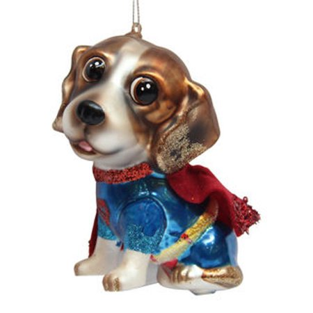December Diamonds Blown Glass Superhero Beagle Dog Ornament or Christmas Ornament](Superhero Ornaments)