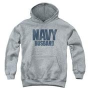 US Navy Husband Big Boys Pullover Hoodie