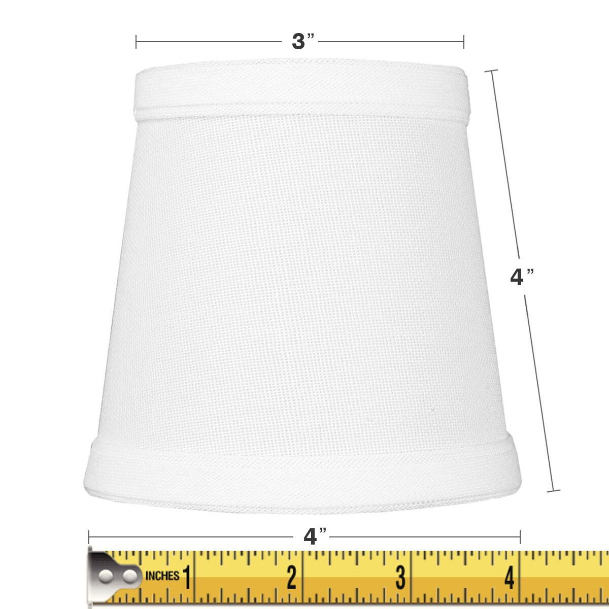 3x4x4 Chandelier White Linen Clip-On Lampshade by Home Concept