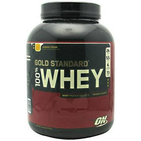 Optimum Nutrition 100% Whey, Banana Cream, 5 LB ()