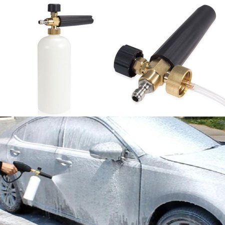 Pressure Snow Foam Washer Jet Car Wash Adjustable Lance Soap Spray Cannon (Best Power Washer For Washing Cars)