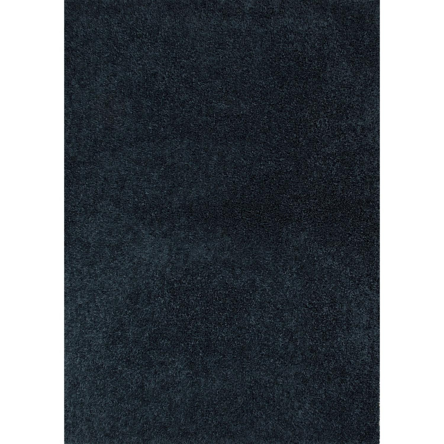 2 X 3 Midnight Blue Robin Shaggy Solid Hand Tufted Area