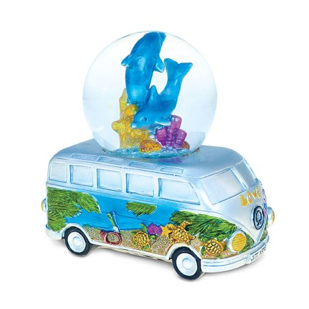 Nautical Décor Snow Globe Van With Dolphin (65mm) (Snowglobe Stopper)