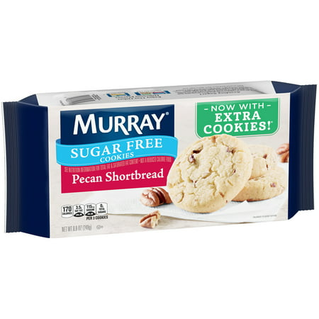(2 Pack) Murray Sugar Free Pecan Shortbread Cookies 8.8 oz. - Sugar Halloween Cookies