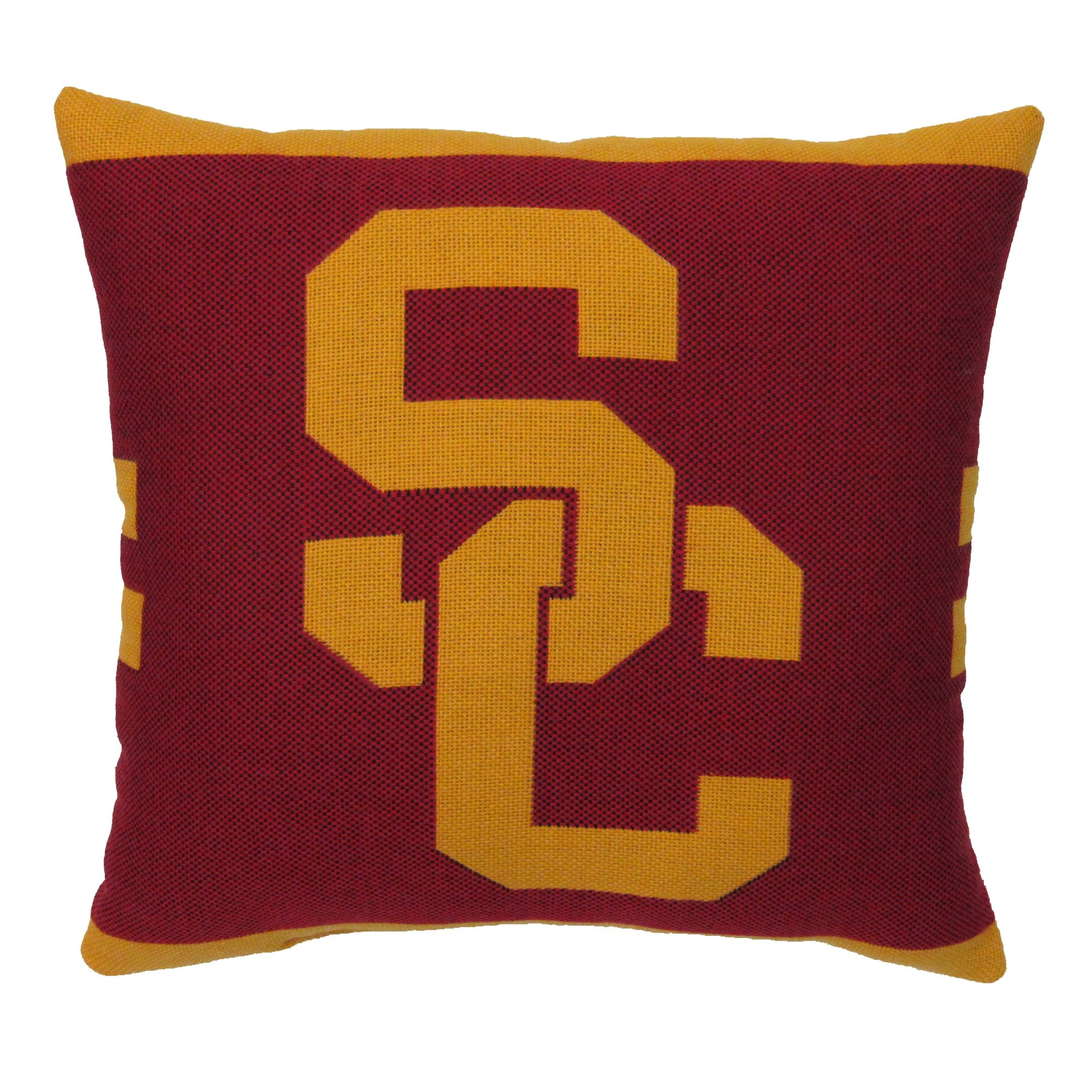 "NCAA USC 20"" Square Decorative Woven Pillow by The Northwest Company"
