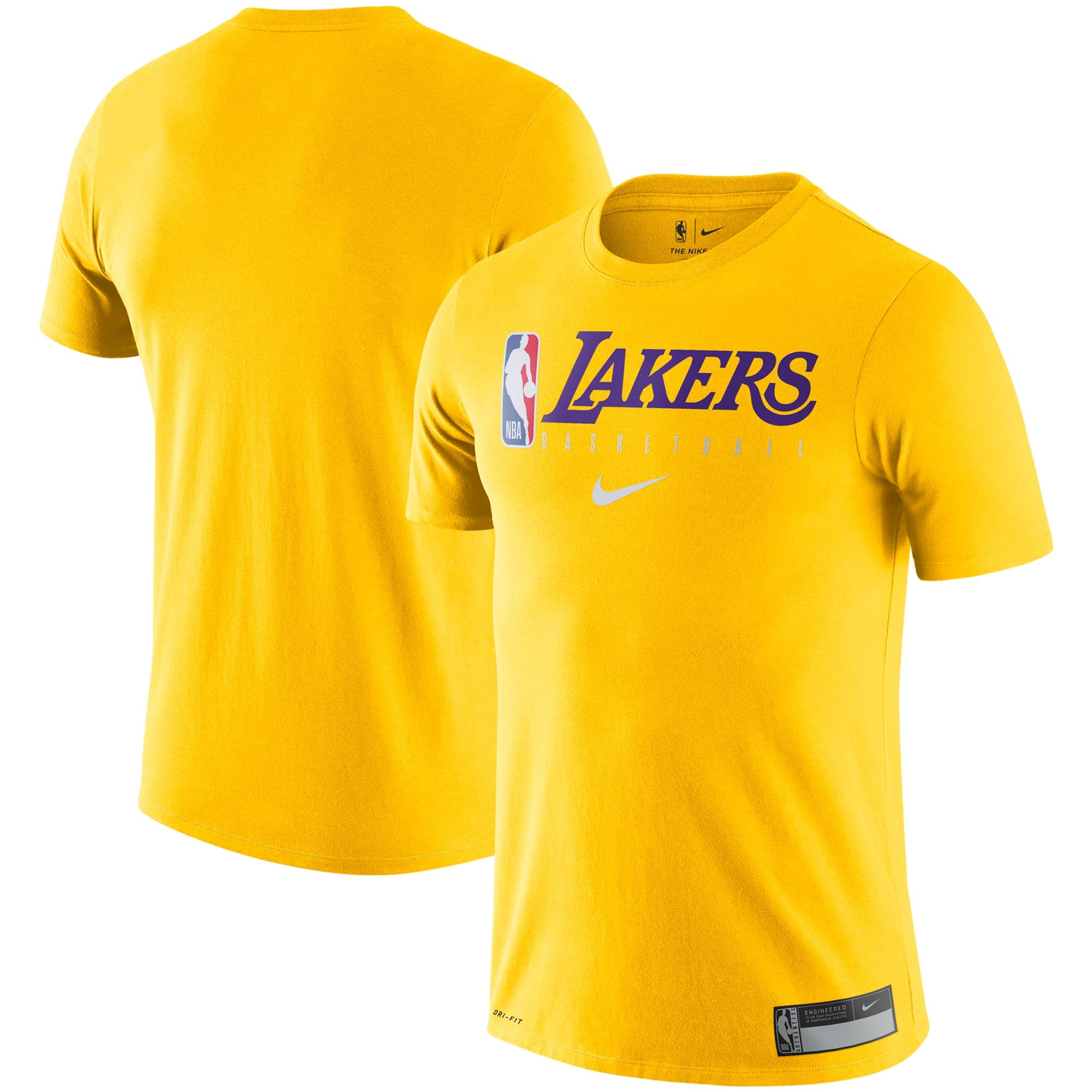 Los Angeles Lakers Nike Essential Practice Performance T-Shirt - Gold
