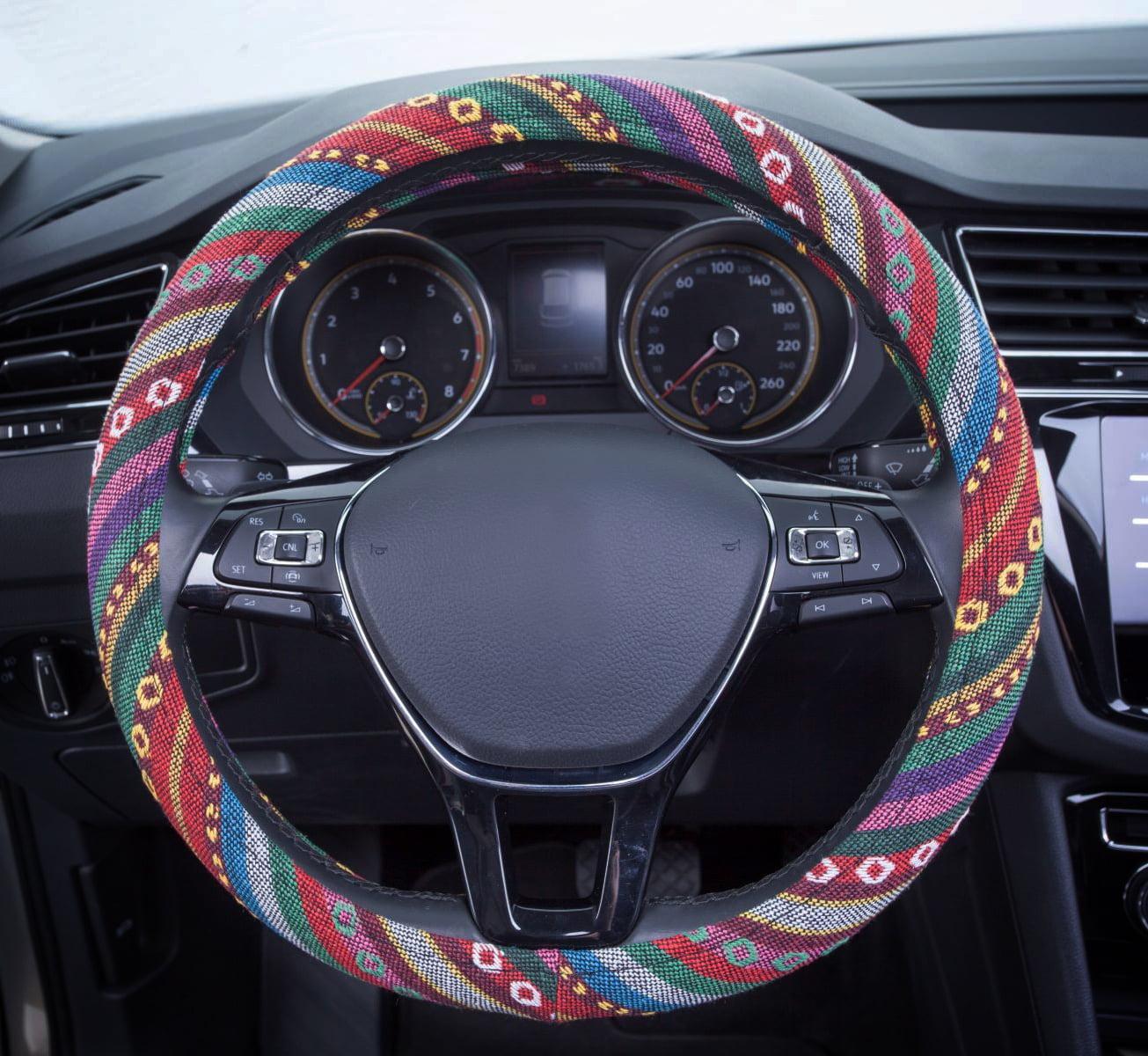 Auto Drive 1pc Steering Wheel Cover Bohaus Burst Colorful Universal Fit Walmart Com Walmart Com